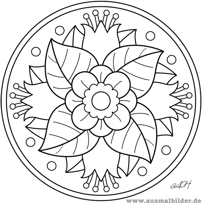 Blumen Mandala Malvorlagen Tattoo